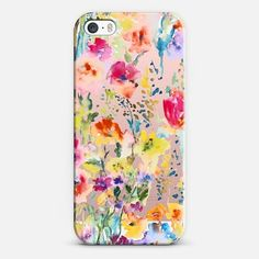 Casetify iPhone SE Classic Snap Case - Pretty Floral Wallet Case by Pineapple Bay Studio