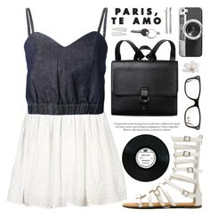 """""""Music is in the air"""" by alexandra-provenzano ❤ liked on Polyvore featuring VILA, Monki, Marni Edition, Casetify, Ray-Ban, Pier 1 Imports, Madewell, Maison Margiela and Forever 21"""