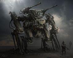 [Sci-Fi] - [digitalart/paintings/scifi] - [D]Mech - by: daRoz