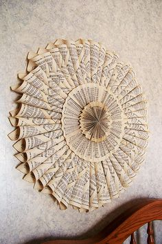 Oh, this is just lovely. A hymnal wreath from mymommysplace.com // this is an incredible gift for someone in the ministry! LOVE IT!