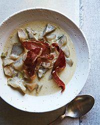 Chunky Artichoke and Sunchoke Soup Recipe on Food & Wine