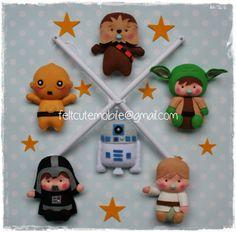 Baby Felt Mobile, Star Wars Mobile, Nursery Decor, Bedding, Hanging, C-3P0, Rey, R2D2, Master Yoda, Luke Skywalker, Chewbacca, BB by feltcutemobile on Etsy https://www.etsy.com/listing/493525001/baby-felt-mobile-star-wars-mobile