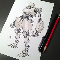 Today's robot. - Jake Parker ✤