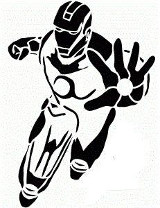 free pumpkin stencils iron man iron man by donza fall. Black Bedroom Furniture Sets. Home Design Ideas