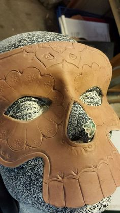 Leather sugar skull mask (tutorial)