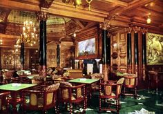 Statendam--another view of the smoking room in color