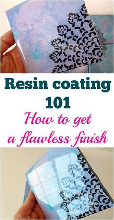Resin coating for beginners. How to clear coat with resin on your artwork, canvases, ceramic tiles and more. This excellent video for beginners makes resin work easy and tells you everything you need to know to get a flawless finish. Epoxy Resin Art, Diy Resin Art, Diy Resin Crafts, Acrylic Resin, Acrylic Pouring, Diy Resin Coating, Diy Epoxy, Stick Crafts, Diy Resin Projects