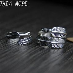 Cheap ring for, Buy Quality rings for men directly from China ring for men silver Suppliers: Fyla Mode Real Pure 925 Sterling Silver Rings for Men Jewelry Solid Thai Silver Feather Ring Compass Jewelry, Dainty Gold Jewelry, Feather Ring, Stylish Rings, Silver Hoop Earrings, Silver Bracelets, Jewelry Shop, Fashion Jewelry, Fine Jewelry