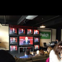 Patch.com - Huffington Post debate party at the Draft in Concord