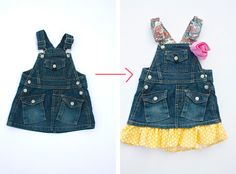 A wonderful cache of ideas for lengthening the life of little girl clothes. Love.