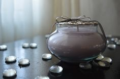 Lavender scented candle. Lovely present for any occasion.