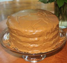 Southern Caramel Cake!  Yum!  I made this this morning and it is WONDERFUL!  Reminded me of my Grandmother's.  This is my new favorite recipe!