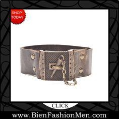 Mens Leather Cuffs | Mens Bracelets | Mens Jewelry | Mens Accessories | Bracelets on Men | Mens Jewelery | Shop Now ♦ Rebel Designs Armor Clasp Mens Bracelet $69.95