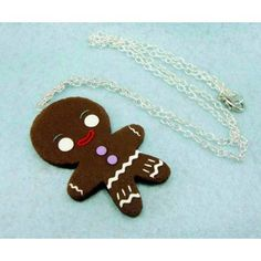 Gingerbread Chocolate,fimo, handmade,hecho a mano,polymer clay,collar,necklace,cadena,chain,galleta jengibre,cookie,