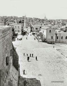 كنيسة المهد - بيت لحم ، فلسطين 1900م  The church of the nativity-bethlehem, Palestine 1900