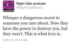 """Welcome to Night Vale"" is either really creepy or oddly poetic. There is no in between."