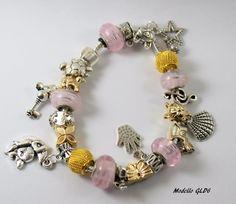 Bracciale stile Pandora GLD6 di Talè Gioielli su DaWanda.com
