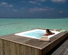 This is the ideal location for a hot tub in my dream home, it exceeds my visions of relaxation and peacefulness! Spas, Home Spa Room, Maldives Beach, Cool Pools, Travel And Leisure, The Ranch, My Dream Home, Best Hotels, Swimming Pools