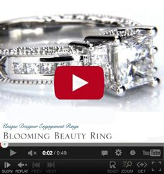 http://www.BloomingBeautyRing.com #VintageDiamondWeddingRings #VintageRadiantEngagementRings #VintageSettings #VintageRings MostUniqueWeddingRings