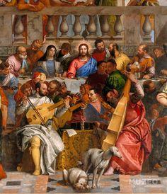 Tiziano con la viola de gamba, Tintoretto y Veronés con las violas. El hermano de Veronés con la lira da braccio.