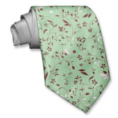 Sold!  Chocolate Mint Floral Neck Tie going to some lucky guy (or gal!) in Queens Village, NY!