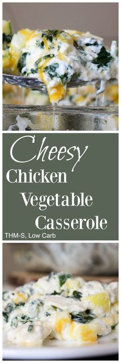 Cheesy Chicken Vegetable Casserole (THM-S, Low Carb)
