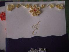 invitación de boda con filigrama