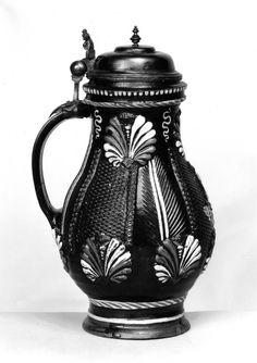 Annaberg stoneware jug, mid - 1600s