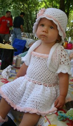Niño vestido de verano conjunto ganchillo por SandysCapeCodOrig