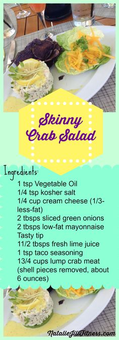 YUMMY! Skinny Crab Salad! Will you try this with me? If you love recipes like these, click the image for more of my faves! #recipe #glutenfree #snack #appetizer #crab