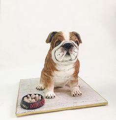 English bulldog cake - cake by Dsweetcakery Bulldog Cake, Realistic Cakes, Animal Cakes, Sculpted Cakes, Dog Cakes, Disney Cakes, Novelty Cakes, Cake Art, Amazing Cakes