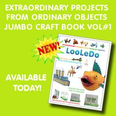 Thought this was too cool!  This site has oodles of projects to be made from recycled items!  Way too cool -- the book is pictured because I couldn't decide which project to showcase!