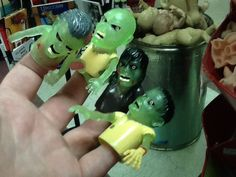 MMMMMM! Brains! Zombie finger puppets are a great addition to any Halloween festivity!
