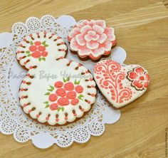 """Купить """"Розы"""" - набор пряников на 8 марта - пряник, расписные пряники, имбирное печенье"""