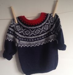 """Hand knitted in Norway in the traditional """"Marius"""" pattern Nordic Sweater, Hand Knitting, Knitting Ideas, Cool Kids, Jumper, Kids Fashion, Kids Shop, Girly, Hands"""