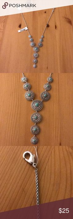 Lucky Brand Turquoise/Silver Necklace Brand New Lucky Brand Necklace. Lucky Brand Jewelry Necklaces