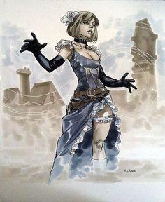 Steampunk Heroines by~MahmudAsrar  Power Girl