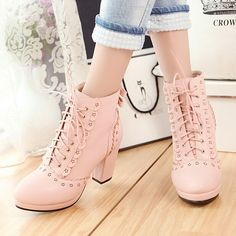 Sweet high heel bowknot Martin boots for 10% off use the discount code: Isabella
