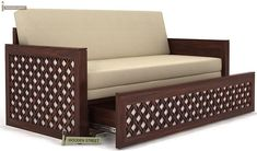 Buy Corsica Sofa Cum Bed (King Size, Walnut Finish) Online in India - Wooden Street