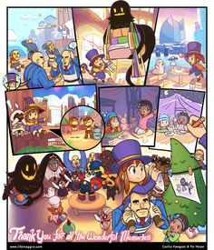 Video Game Art, Video Games, Cartoon Network, Alien Hat, A Hat In Time, Nintendo, Horror Movie Characters, Cute Games, One Piece Luffy