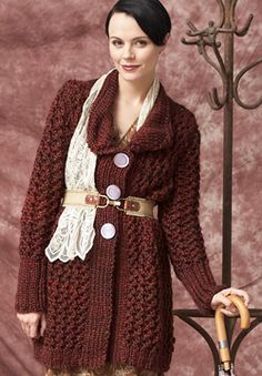 Free Knitting Pattern: Patons Delish - Charming Cardigan