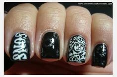 Sons of Anarchy Nails : I would get my nails done like this everyday of my life.