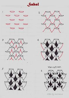 Sabal-tangle pattern by molossus, who says Life Imitates Doodles, via Flickr