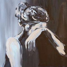Original Acrylic Painting 16 x 16 Loss figurative by EtsyLoft