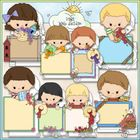 Clip Art and Digital Stamps Download with 8 Color Images and 8 Black and White Images.  All images are high quality 300 dpi for beautiful printing ...