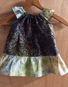 Batik Peasant Style Tiered Sundress, size 12 months by SewMeems on Etsy