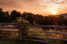 Donna Collins- Fine Art America- The Perfect Moment -Blue Ridge Parkway- Boone, NC - Print available for purchase