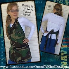 The U.S. Navy Cook's Apron by OneofAKindDezignz on Etsy