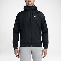 THE TRACK AND FIELD CLASSIC, REINVENTED. The Nike Windrunner Men's Jacket updates a classic, running-inspired layer with a color-blocked design on lightweight fabric for an iconic look and lasting comfort. Benefits Lightweight ripstop fabric provides durability Hood with bill and drawcord offers warmth and custom coverage Stretch cuffs and hem for an enhanced fit Vent at back yoke for excellent airflow Side zip pockets for convenient storage Product Details 26-degree chevron Fabric: 100%…