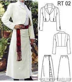 pattern for chilean dress - Bing images Charro Dresses, Vestido Charro, Mexican Dresses, Gaucho, Jacket Pattern, Historical Costume, Sewing For Beginners, Quinceanera Dresses, Dance Dresses